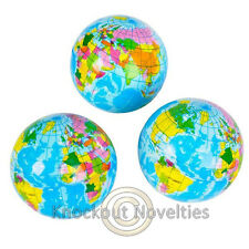 """3"""" Globe Stress Ball Favor Party Gift Bag Fillers Prize Prizes World Bouncy"""
