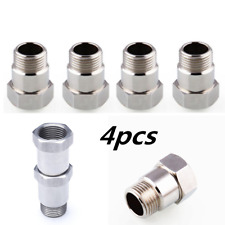 4PCS O2 Oxygen sensor extender adapter extension spacer HHO O2 Bung Test Pipe
