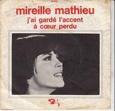 45 T EP MIREILLE MATHIEU *J'AI GARDE L'ACCENT* JUKE BOX (PROMO)