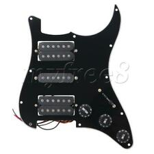 More details for black electric guitar 3ply prewired pickguard hsh sheet set guitar part