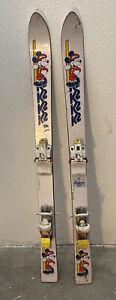 RARE VINTAGE 1980'S K2 WALT DISNEY TEAM MICKEY SKIS 110 CM TYROLIA 520 BINDINGS