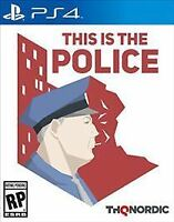 This Is the Police (Sony PlayStation 4 No manual condition good