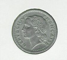 1947 France 5 Francs Aluminum Laureate Head Coin - Paris Mint