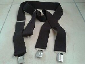 Vintage Brown Mens Braces Suspenders Clip Adjustable ONE SIZE (Peaky Blinders)