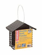 Stokes Select Double Suet Bird Feeder with Metal Roof, Two Suet Capacity