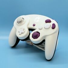 Custom White & Black Smash Nintendo Gamecube Controller - Tight Stick!