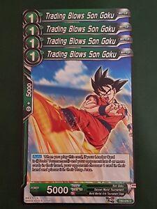 4x Trading Blows Son Goku - Dragon Ball Super Card Game