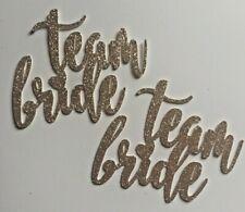 Hen  Bridal shower cupcake toppers Team Bride glitter cupcake topper X 6 bride