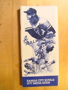 Kansas City Royals Media Guide  1977 Press Yearbook Baseball '76 AL West Champs