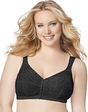 JMS 42DD Just My Size Front Close Wirefree Bra Black 1107 New