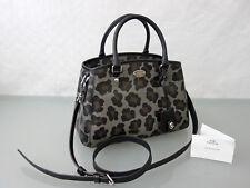 COACH Designer Leder Tasche Handtasche Schultertasche Umhängetasche Bag Grau Leo