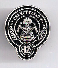 "Hunger Games District 12 Cloisonne Metal Pin 1.25"" Tall- FREE S&H in USA"