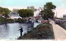 Eamont Bridge Penrith Fishing Angling unused old postcard