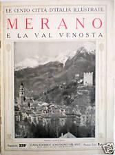 cento città d'Italia 1920 MERANO e La Val Venosta
