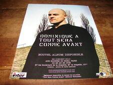 DOMINIQUE A - PUBLICITE TOUT SERA COMME AVANT !!!!!!!!