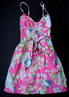 Women's Abercrombie Fitch Sun Summer Dress Pink Green Sz M Med NWT Authentic