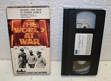 World at War - Volume 8: Desert - The War in North Africa VHS Video Tape OOP
