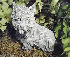 "Yorkie dog latex mold with plastic backup concrete plaster 8"" x 6"" x 3.75"""