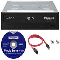 LG WH16NS60 16x Internal Blu-ray BDXL Burner (Ultra HD 4K Playback) +S/W +Cable