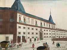 LISBONNE Duc Aveiro Vue d'optique Perspective 18 ème  Gravure XVIII
