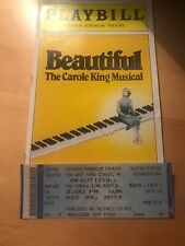 Beautiful The Carol King Musical PLAYBILL ~ December 2013 With TICKET
