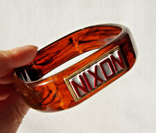 Richard Nixon Presidantial Election Memorabilia Lucite Bangle Bracelet Trifari
