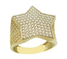 Men's 10k Yellow Gold Star Ring