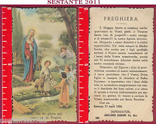 961 Santino Holy Card Madonna Jesu TIBI sit Gloria Here fulham es de virgine 580