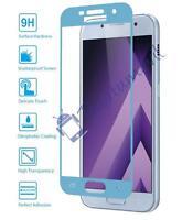 Protector de Pantalla Cristal Templado Curvo para Samsung Galaxy A5 2017 Azul