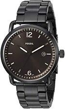 Fossil FS5277 PVP £ 139 Commuter Negro Acero Inoxidable Analógico Reloj para hombres