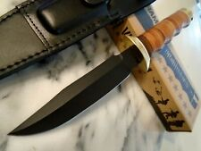 """MACV Vietnam Combat Fighter Bowie Hunter Fixed Blade Knife Leather 11"""" OA 1633"""