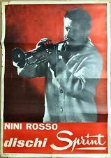 NINI ROSSO - POSTER FOTOGRAFICO ORIGINALE - ' 60 - Disco Sprint -