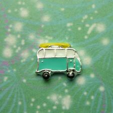 New Combi Van with Surfboard Charm for Floating Charm Lockets Memory Necklaces