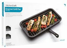 Kitchen Craft 40cm x 23cm Enamel Non Stick Replacement Oven Tray Grill Pan
