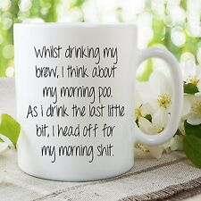 Funny Novelty Mug Poo Humour Joke Gifts Cups Husband Wife Girlfriend WSDMUG697