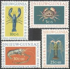 Netherlands New Guinea 1962 Crabs/Lobsters/Marine/Welfare/Nature 4v set (n27423)