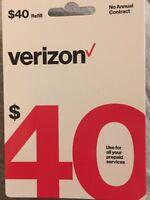 Verizon Prepaid - $40 Refill Card