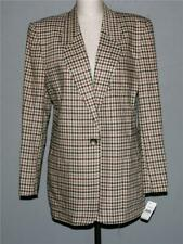 Talbots Woven Checkered Rayon Smooth Wool Blazer Fall Colors Wms 8 NWT $178