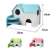 Small Hamster Mouse Guinea House Cage Nes Wood Pet Rat Squirrel Nest Bed