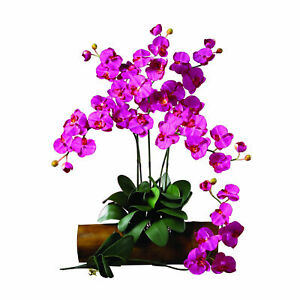 Phalaenopsis Stem Leafy Base Beauty Flower Decor Nearly Natural Set Of 12