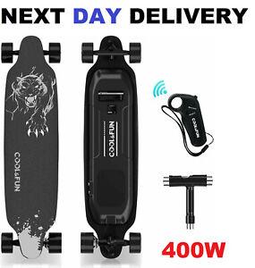 Electric Skateboard Longboard w/Remote Control 400W Motor Adult Teen Gift 35km/h
