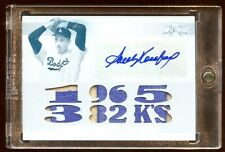 2011 TOPPS SANDY KOUFAX 1/1 AUTO 9X JUMBO PATCHES LOGO PRIME AUTOGRAPH TRUE 1/1