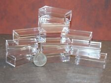 Dollhouse Miniature Acrylic Display Box set 10 1 x 2 x 3/4 in Dollys Gallery Y64