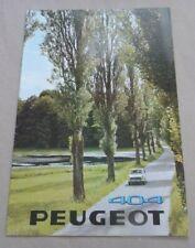 1968 PEUGEOT 404 Catalogue Brochure Prospekt Dépliant French