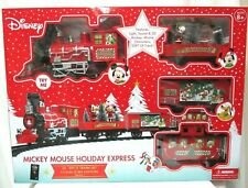 Disney Mickey Mouse Holiday Express Train Set 36 Pieces Collectors Christmas NEW