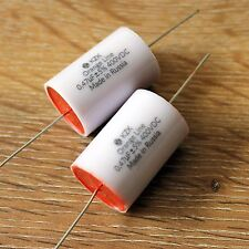 KZK Orange Line 2pcs 0.47uF 400V 5% FilmFoil Non Polarized Axial Audio Capacitor