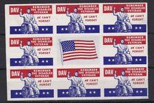 Auc1058) Usa Cinderellas Disabled Veterans labels