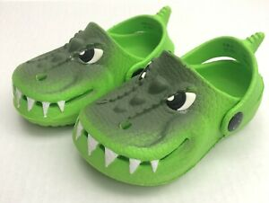 Capelli Toddler Boys Green Alligator Gator Slip On Clogs Shoes Size 5 Brand New