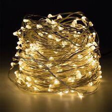Warmweiß 10M 100-LEDs Flexible Wasserdicht Kupferdraht Weihnachten Lichterkette