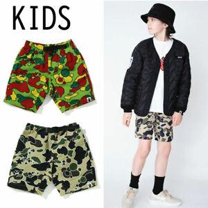 A BATHNIG APE BAPE KIDS STA CAMO CLIMBING SHORTS Pants 2colors From Japan New